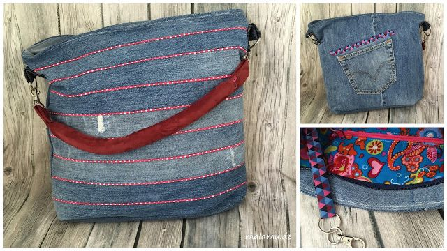 Chobe Bag - Jeansupcycling mit Paspel