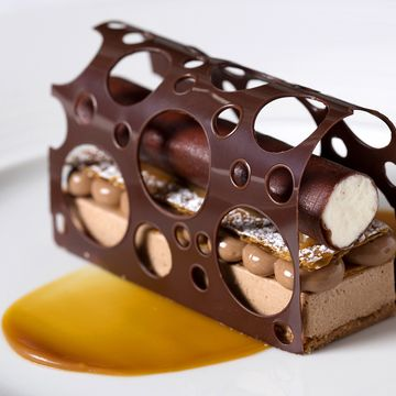 "Petit gateaux au chocolate ""Lucy Jones is the pastry sous chef at one of London's most iconic hotels, The Ritz. FOUR caught up with her earlier this week to find out where she gets her inspiration and if it's all cakes and pastries on her morning breakfast menu…"""