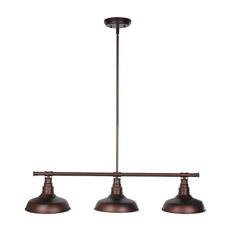 Features:  -Kimball collection.  -Number of lights: 3.  -Modern design with metal shades.  Product Type: -Kitchen island pendant.  Style: -Modern.  Shade Material: -Metal.  Bulb Type: -Incandescent.