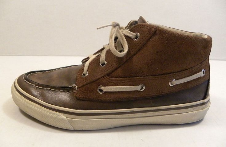 Sperry Top Sider Men's Size 10M Leather High Top Boat Hiking Casual Suede Beige #SperryTopSider #HighTop