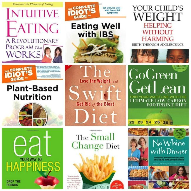 Nine of my favorite books by registered dietitians, highlighting RDs at the cutting edge of nutrition science and unique, holistic approaches to wellness.
