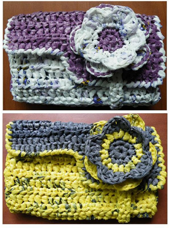 15 best Crochet plarn images on Pinterest   Plastic bags, Crocheted ...