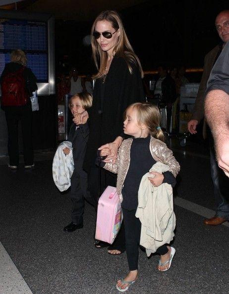Angelina Jolie and Knox Jolie-Pitt - Angelina Jolie and the Kids Leave LA