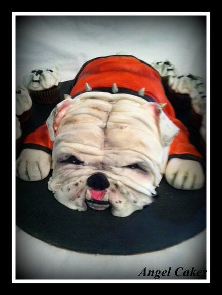 Ga Bulldog Baby Shower Cakes