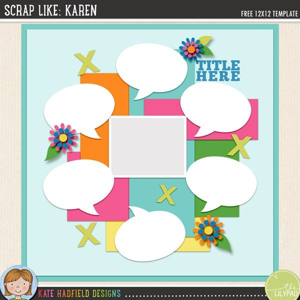 The 445 best free digital scrapbook templates images on pinterest free digital scrapbooking template maxwellsz