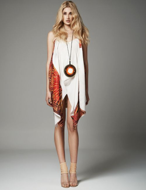 UNI Limited Edition Transformable Print Dress  Necklace MARIA MASTORI FOR 180DEGREES