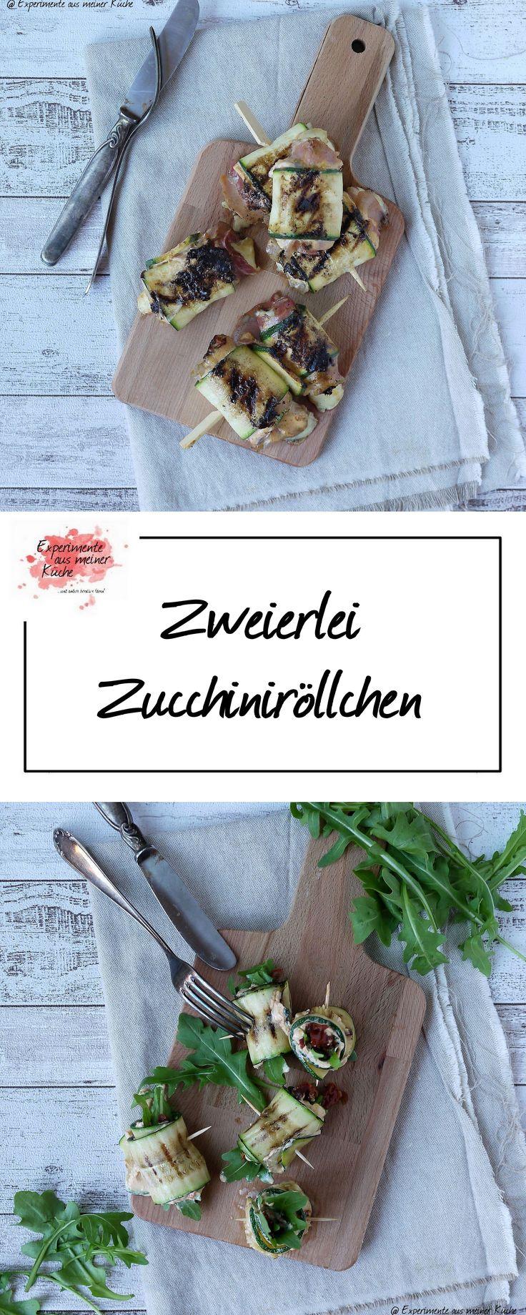 Zweierlei Zucchiniröllchen   Rezept   Kochen   Essen