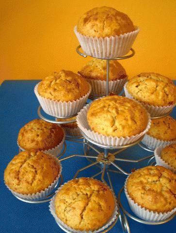 Zdjęcie: Muffinki bananowe z masłem  orzechowym  foodiedelicious.com
