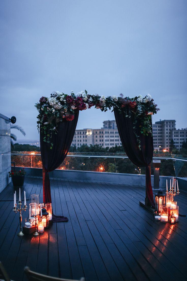 wedding arch, wedding ceremony, marsala, wedding flowers, wedding decor, церемония, свадьба, вечерняя свадьба,  оформление выездной церемонии,  оформление цветами, свадебная флористика, вечерняя церемония