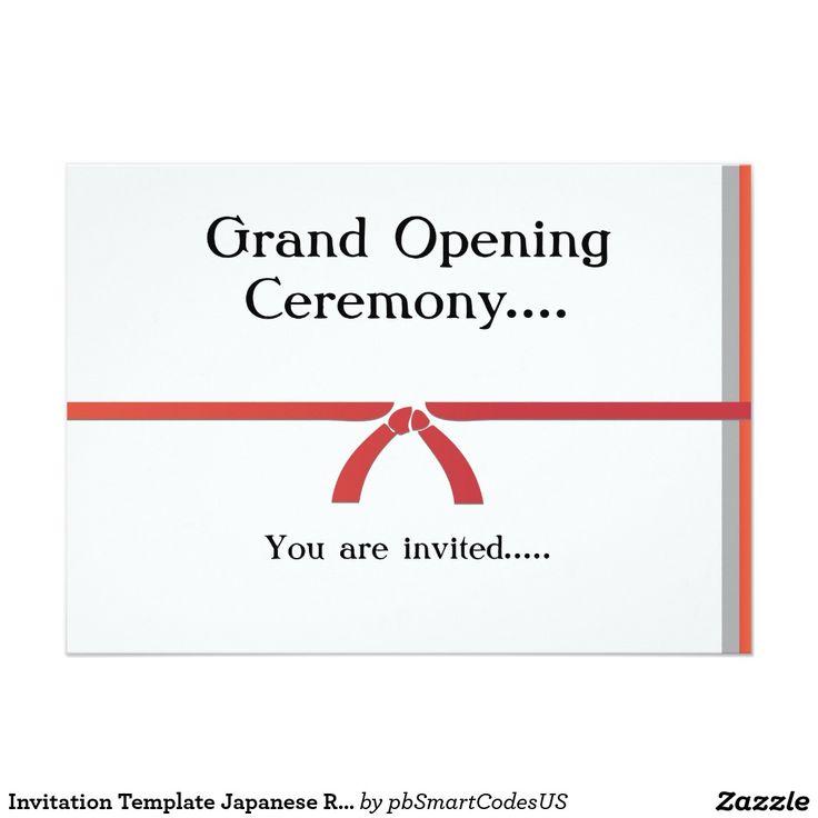 Einladungs-Schablonen-japanisches Restaurant 12,7 X 17,8 Cm Einladungskarte