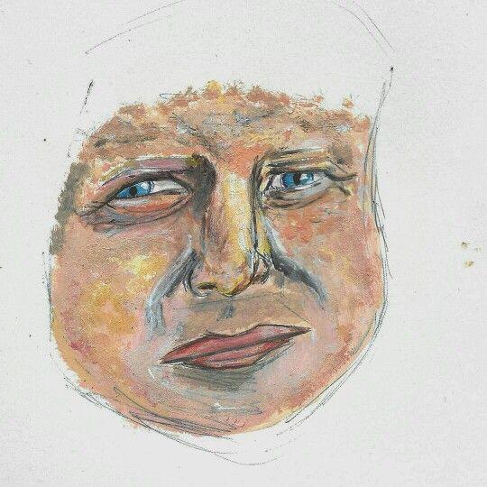 Painting, borris Johnson, practise