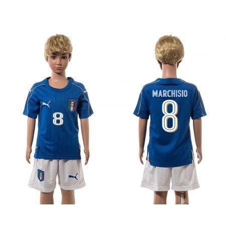 Italien Trøje Børn 2016 #Marchisio 8 Hjemmebanetrøje Kort ærmer.199,62KR.shirtshopservice@gmail.com