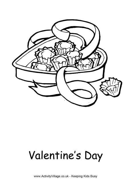 Valentines Day Colouring Page