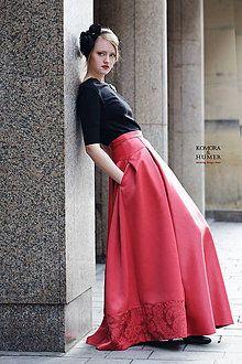 Sukne - Slávnostná sukňa Rosso - 7990891_