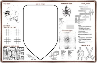Medieval Bride: Placemats for the kids - a DIY project