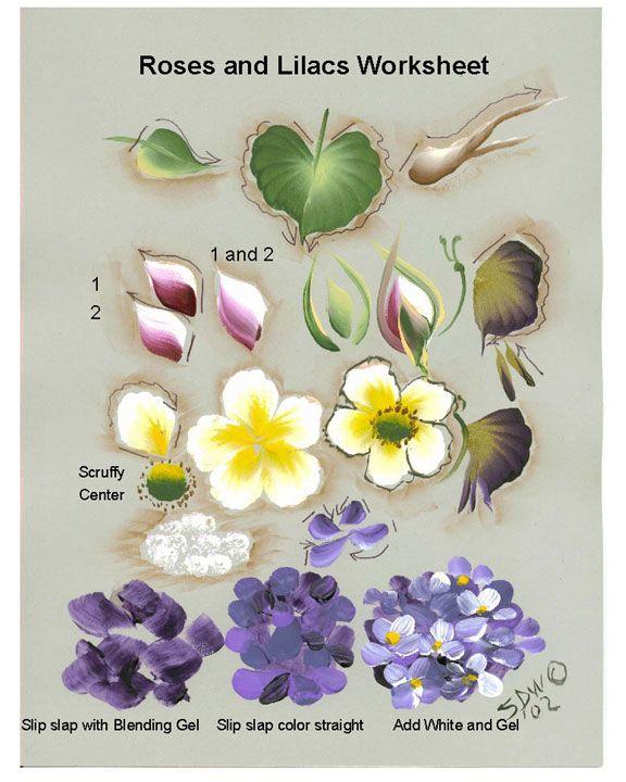 roses  lilacs tin heart