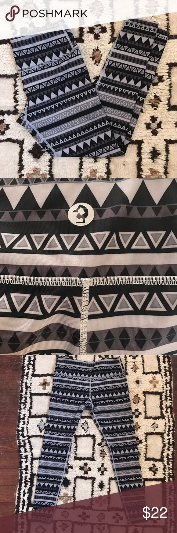 Scorpio Sol Aztec print yoga leggings size S Gorgeous Aztec printed leggings made by Scorpio Sol. EUC, no signs of wear. Thick material, no worries about see-thru leggings in down dog! So cute and comfy!! scorpio sol Pants Leggings