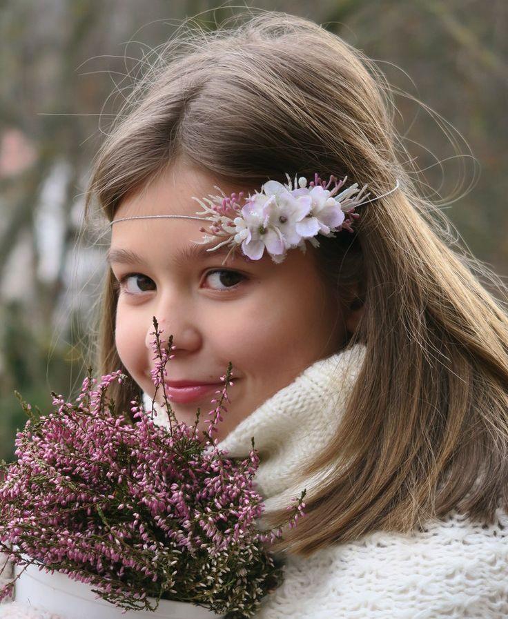 čelenka s ledovými květy wreath, winter, wedding