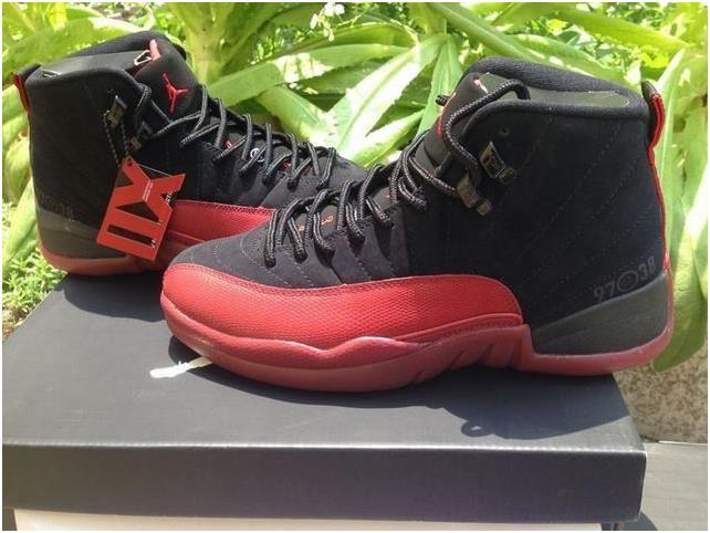 Authentic Air Jordan 12 Black&Varsity Red1