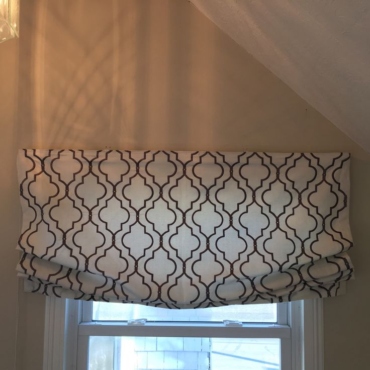 Have A Curtain Panel That You Love? Have It Made Into A Roman Shade. This  Relaxed Roman Was Made From A Firenze Panel From Ballard Designs.