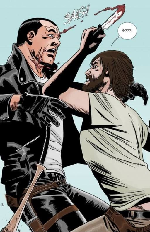 Rick & Negan | Colorization of Rick attacking Negan #125  - FB Brazil