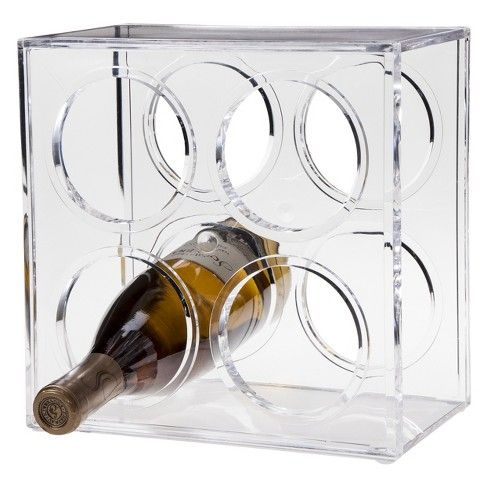 What's cooler than a wine rack? A really cool wine rack. The Room Essentials Wine Rack does away with fussy, grape-y models in favor of a modern wine rack design so sleek, it's almost space age. The polished plastic wine rack is totally see-through, and looks a little like mid-century vintage Lucite products. The box-like design is compact and adaptable to many spaces, with a four-bottle capacity.