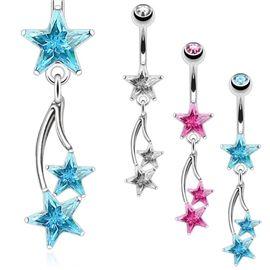 Stylově a velice pěkně barevně zpracovaný piercing do pupíku s hvězdičkami. Vyber si barvu dle libosti a staň se hvězdou pláže! http://www.piercingate.cz/piercing-do-pupiku-hvezdicky-pbv00543