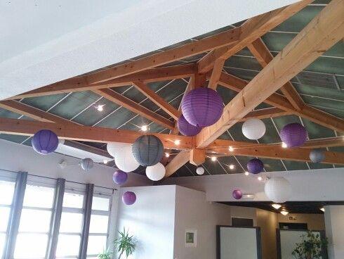 Plafond De Lanterne Domaine De Montanet Mariage Violet Gris Et Blanc