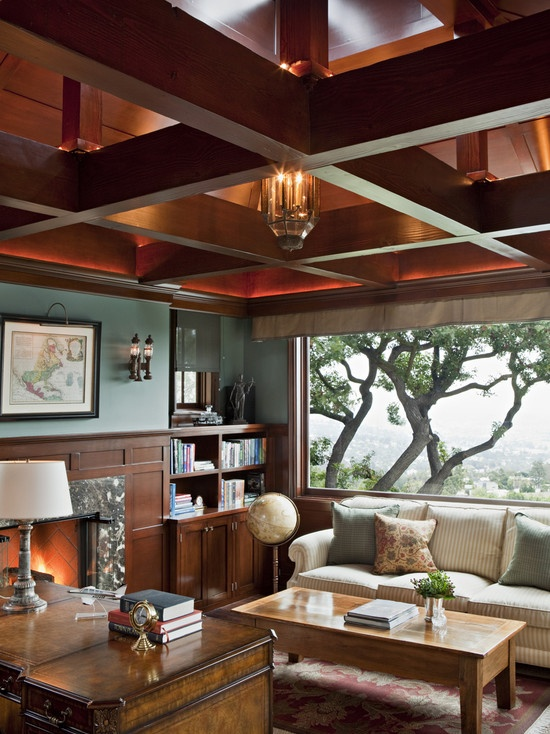 Traditional Home Library Design Ideas: 29 Best Coffer Ceilings Images On Pinterest
