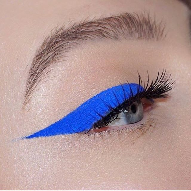 Bright blue winged eye