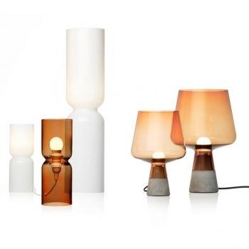 Iittala table lamps. Lantern lamp, design Harri Koskinen & Leimu lamp, design Magnus Pettersen.