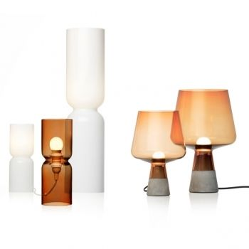 Iittala table lamps. Lantern lamp, design Harri Koskinen & Leimu lamp, design Magnus Pettersen.