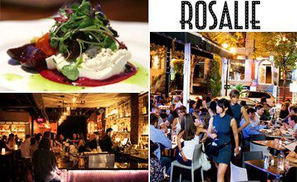 53$ pour un festin 3 services pour 2 personnes au Restaurant Rosalie (Valeur jusqu'à 108$)