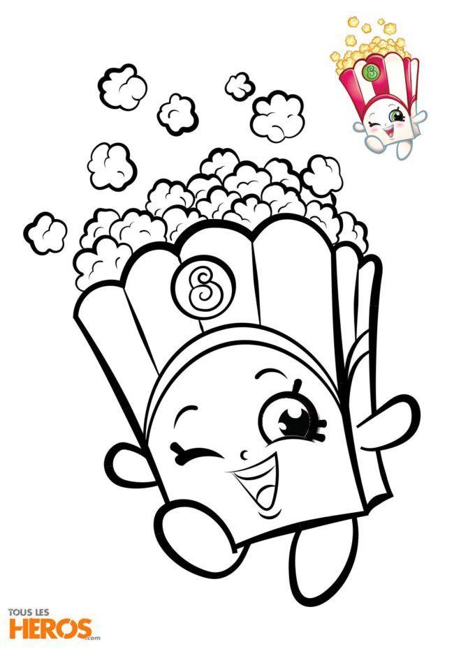 Coloriage Shopkins à Imprimer Coloriez Poppy Corn Le Pot De
