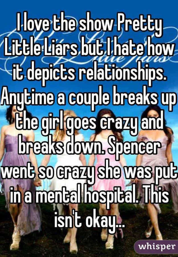 #3 is so true!!! #15, she didn't go in because they broke up, she went in because she thought he was dead and loved him that much that it ruined her.