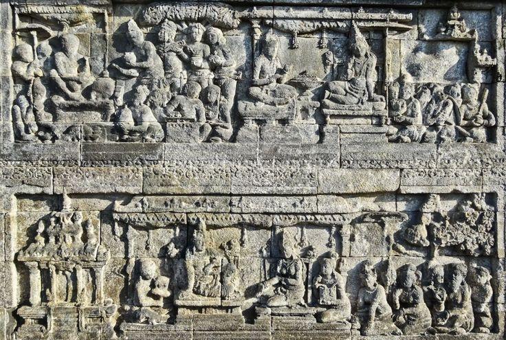 Bas-relief panels, Borobudur, Indonesia
