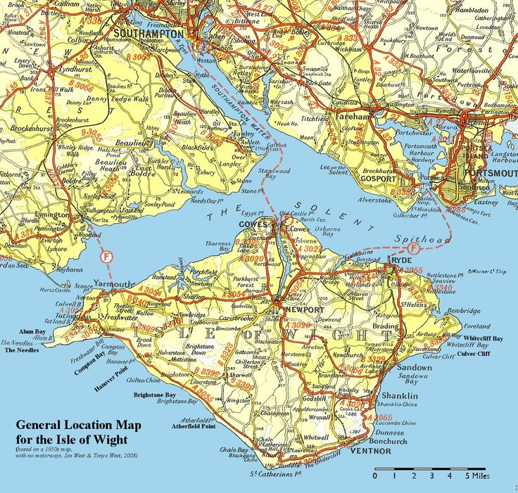 Isle of Wight Map - Isle of Wight United Kingdom • mappery