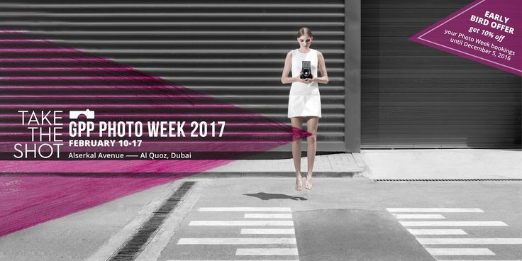 Take the Shot: GPP Photo Week 2017   Photo credit: Gulf Photo Plus  Showcasing the world of photography to the city of Dubai GPP Photo Week returns in 2017 running from February 10-17. Our unique event brings together world-class class photographers from across the globe and offers amateurs and professionals alike a decadent week in which to learn first-hand from the award-winning pros and indulge their creative fantasies.  Here at Gulf Photo Plus were passionate about getting people…