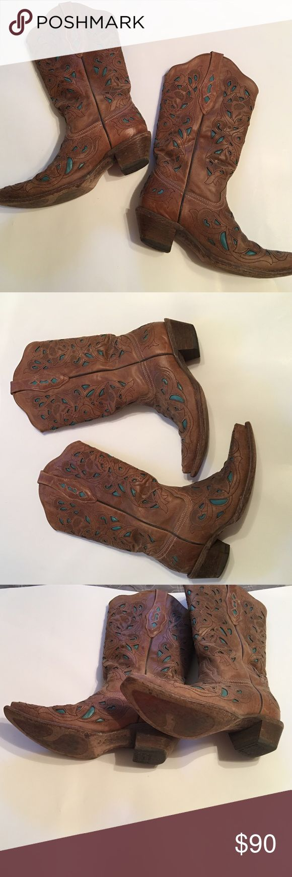 Cavendars Boots Corral vintage boots. Worn 6-7 times and in excellent condition! No defects or any staining of any kind. Size 7.5! cavendars  Shoes Heeled Boots