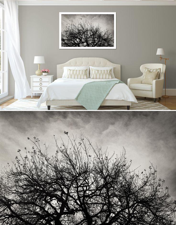 """Reaching Trees"" - 1.2m x 80cm, framed canvas. Fine art photography as home decor."