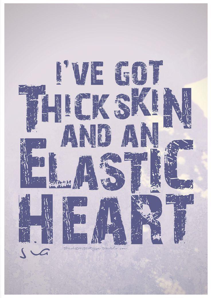 LYRICS+TYPOGRAPHY: Elastic Heart/Sia via thedistractedtype.tumblr.com