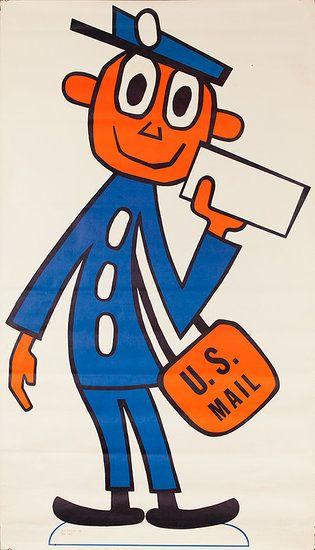 Mr. Zip Code Frank Wilcox Design 1963