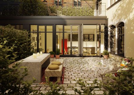 Oscar Properties : Stråhattsfabriken #oscarproperties garden, windows, interior, design