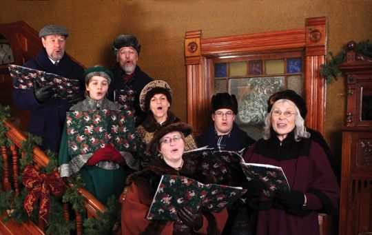 Holiday Carolers at Heritage Park Historical Village, Calgary, AB