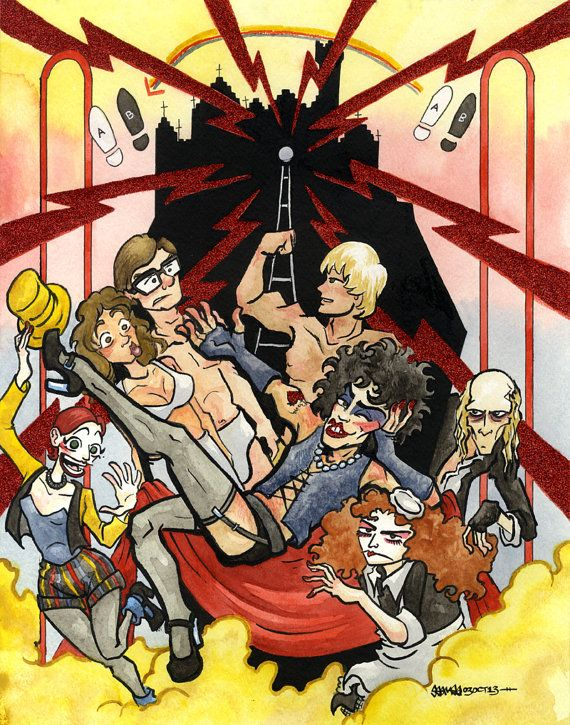 Rocky Horror Picture Show Original Mixed by JSeamesIllustration, $150.00