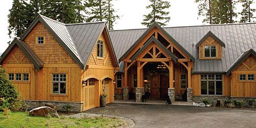 Love the look of this house with cedar siding both shingle for Stone and cedar homes