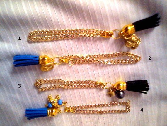 Check out this item in my Etsy shop https://www.etsy.com/listing/203476699/chain-tassel-bracelets-in-gold-tone