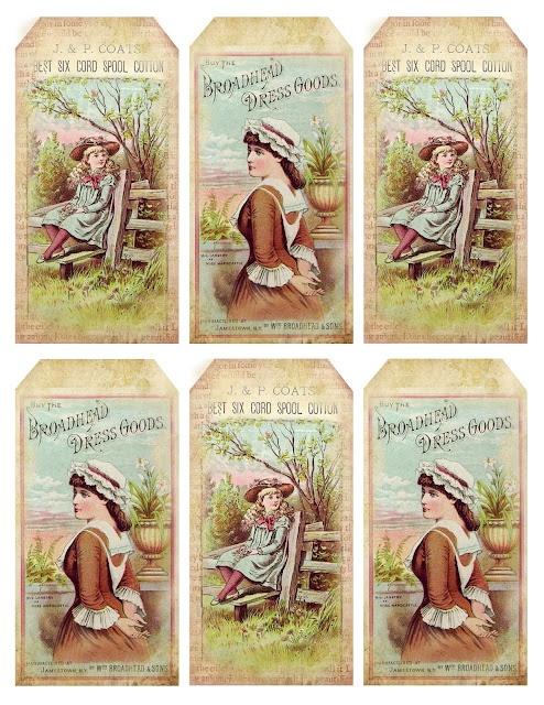 1880's Pretty Advertisement Tags ~ free printable