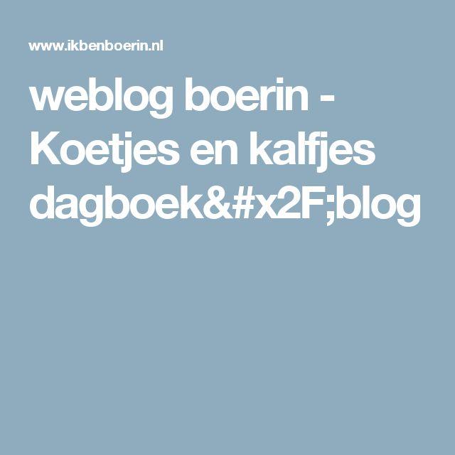 weblog boerin - Koetjes en kalfjes dagboek/blog