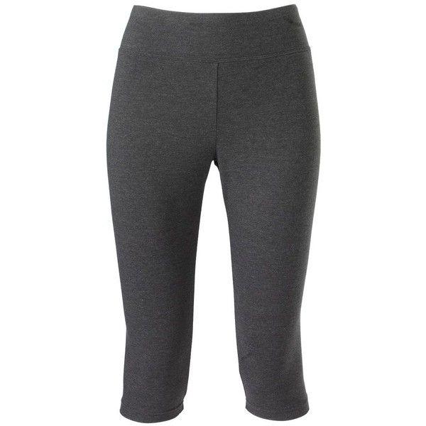 Jockey Sport Judo Capri Leggings ($17) ❤ liked on Polyvore featuring pants, leggings, grey, elastic waist pants, gray pants, print capri leggings, gray leggings and stretch waist pants